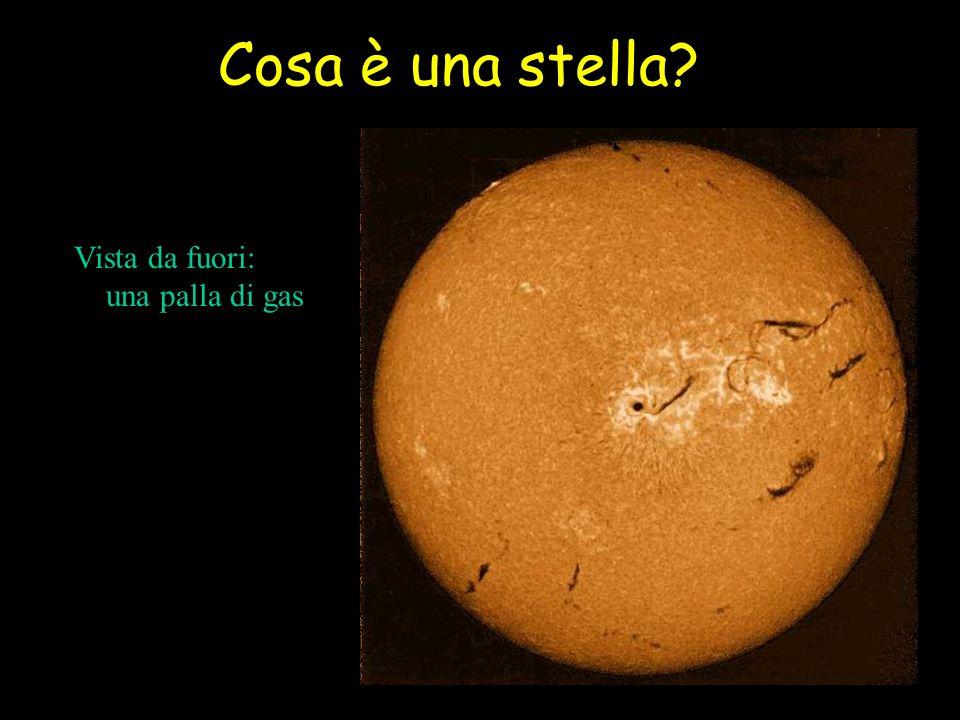 Torniamo al nostro sole A un certo punto si accende il nucleo di elio (flash di elio) e la stella scende sul braccio orizzontale Sequenza principale dellelio Finito anche lelio, due shell: una di idrogeno e una di elio Si risale e si diventa una Supergigante rossa
