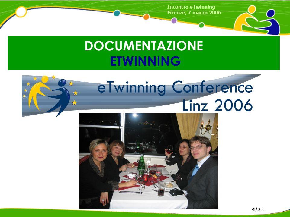 DOCUMENTAZIONE ETWINNING Incontro eTwinning Firenze, 7 marzo 2006 4/23