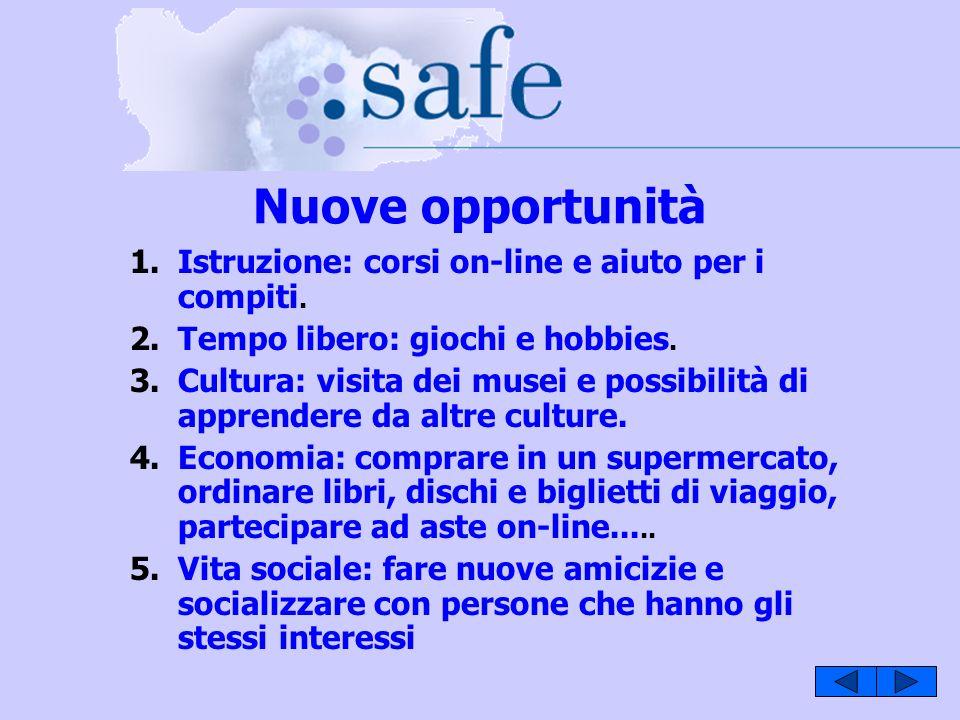 Nuove opportunità 1.Istruzione: corsi on-line e aiuto per i compiti.