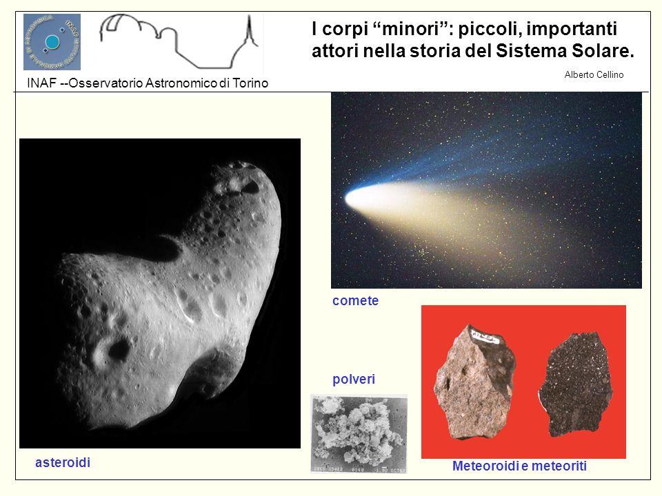 Alberto Cellino INAF --Osservatorio Astronomico di Torino I corpi minori: piccoli, importanti attori nella storia del Sistema Solare. asteroidi comete