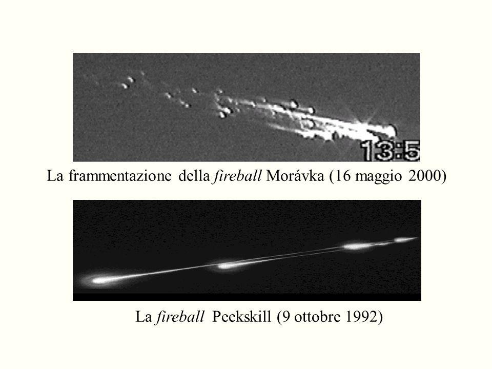 La frammentazione della fireball Morávka (16 maggio 2000) La fireball Peekskill (9 ottobre 1992)