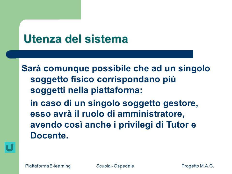 Piattaforma E-learningScuola - OspedaleProgetto M.A.G.