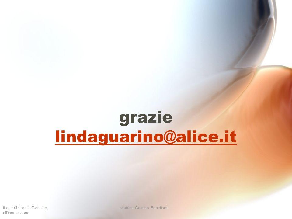 Il contributo di eTwinning all'innovazione relatrice Guarino Ermelinda grazie lindaguarino@alice.it lindaguarino@alice.it
