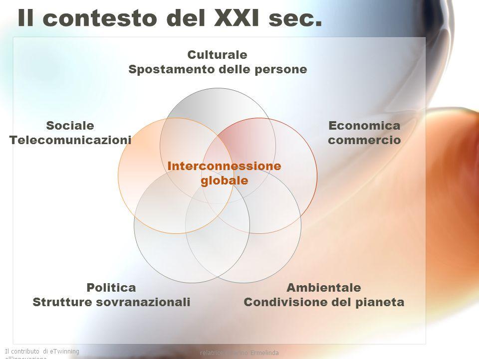 Il contributo di eTwinning all innovazione relatrice Guarino Ermelinda Le competenze Competenze sociali ed espressione culturale