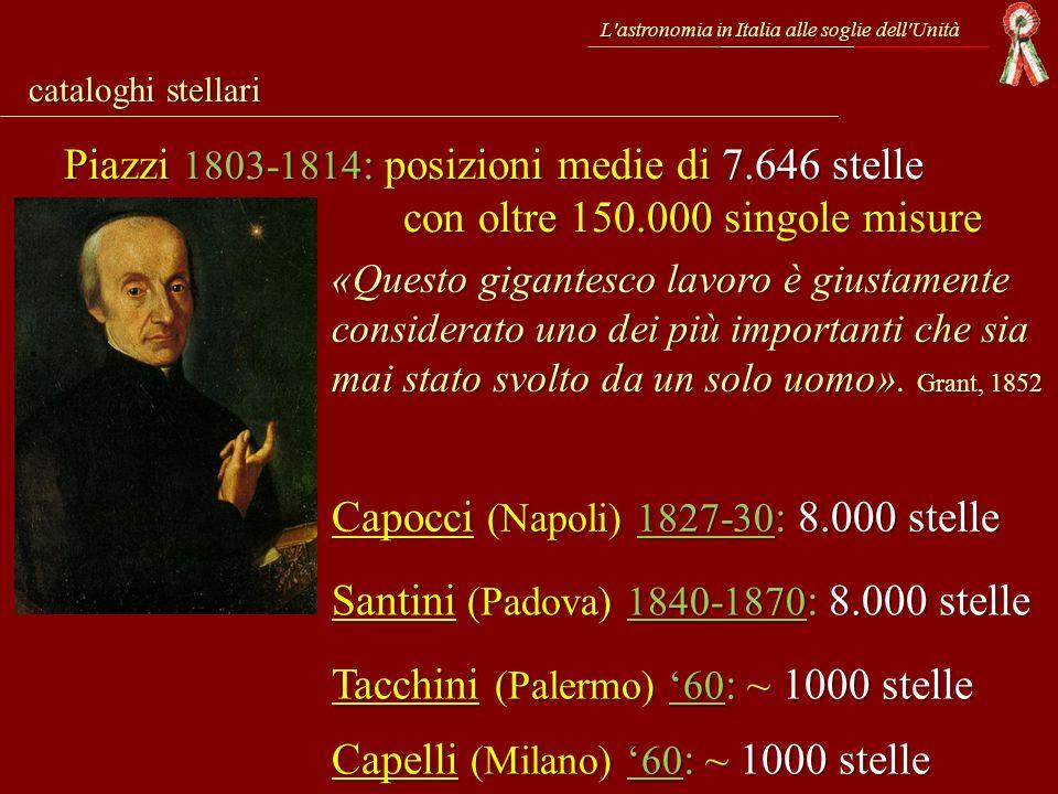 L'astronomia in Italia alle soglie dell'Unità cataloghi stellari Piazzi 1803-1814 : posizioni medie di 7.646 stelle con oltre 150.000 singole misure «