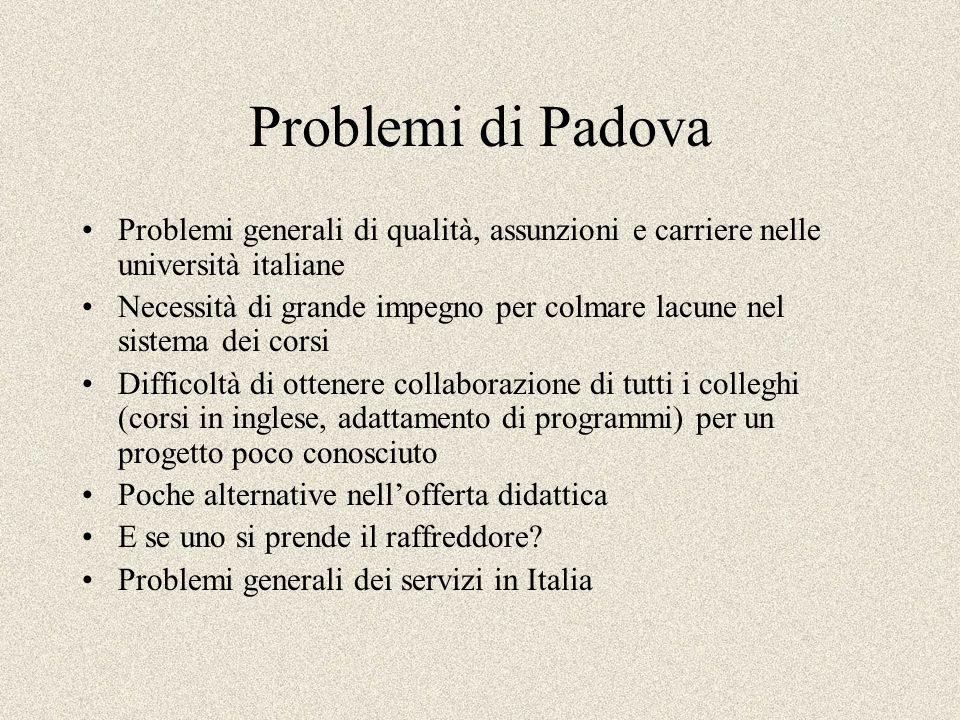 Problemi generali di qualità, assunzioni e carriere nelle università italiane Necessità di grande impegno per colmare lacune nel sistema dei corsi Dif