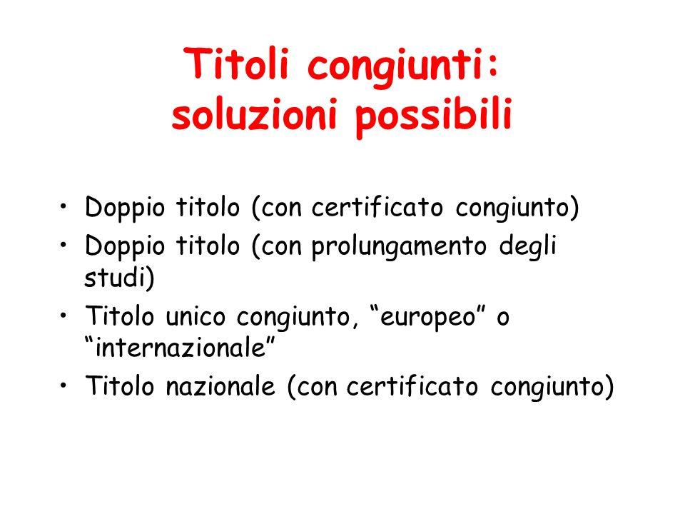 Titolo doppio o multiplo Qual è il titolo italiano rilasciato.