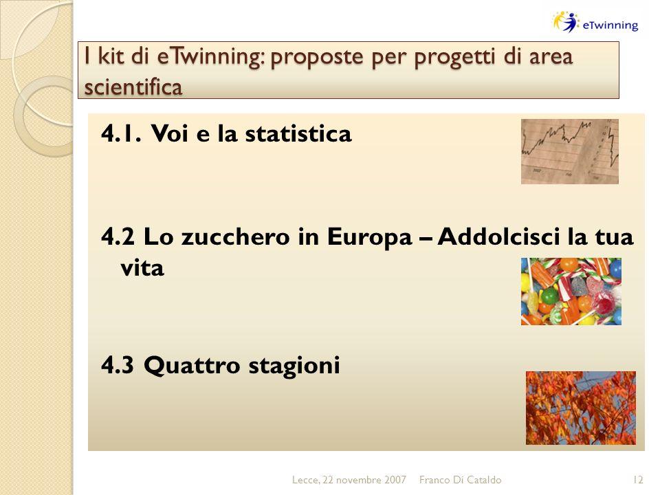 I kit di eTwinning: proposte per progetti di area scientifica 4.1.