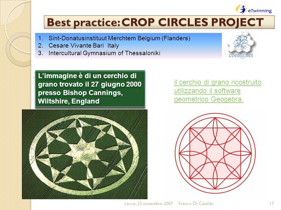 Best practice: CROP CIRCLES PROJECT Limmagine è di un cerchio di grano trovato il 27 giugno 2000 presso Bishop Cannings, Wiltshire, England. il cerchi