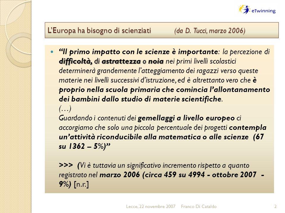 LEuropa ha bisogno di scienziati (da D.