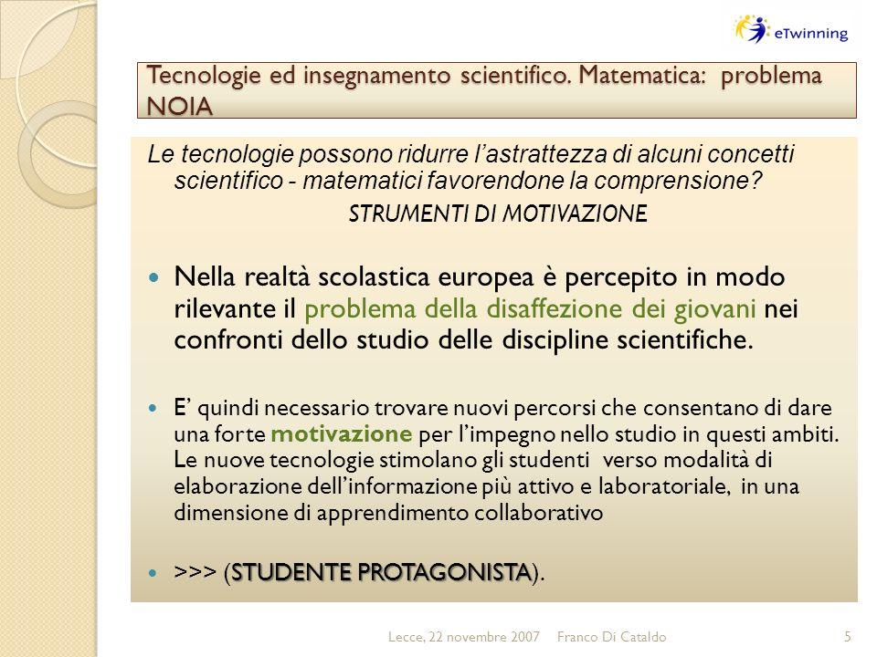 Tecnologie ed insegnamento scientifico.