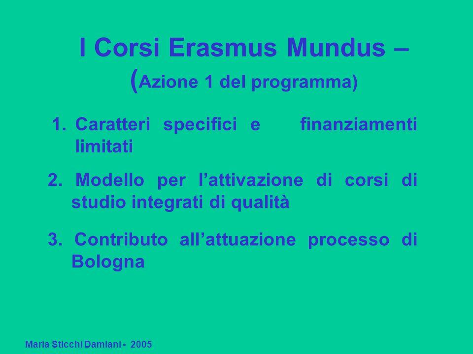 Caratteri specifici e finanziamenti limitati 2. Modello per lattivazione di corsi di studio integrati di qualità 3. Contributo allattuazione processo