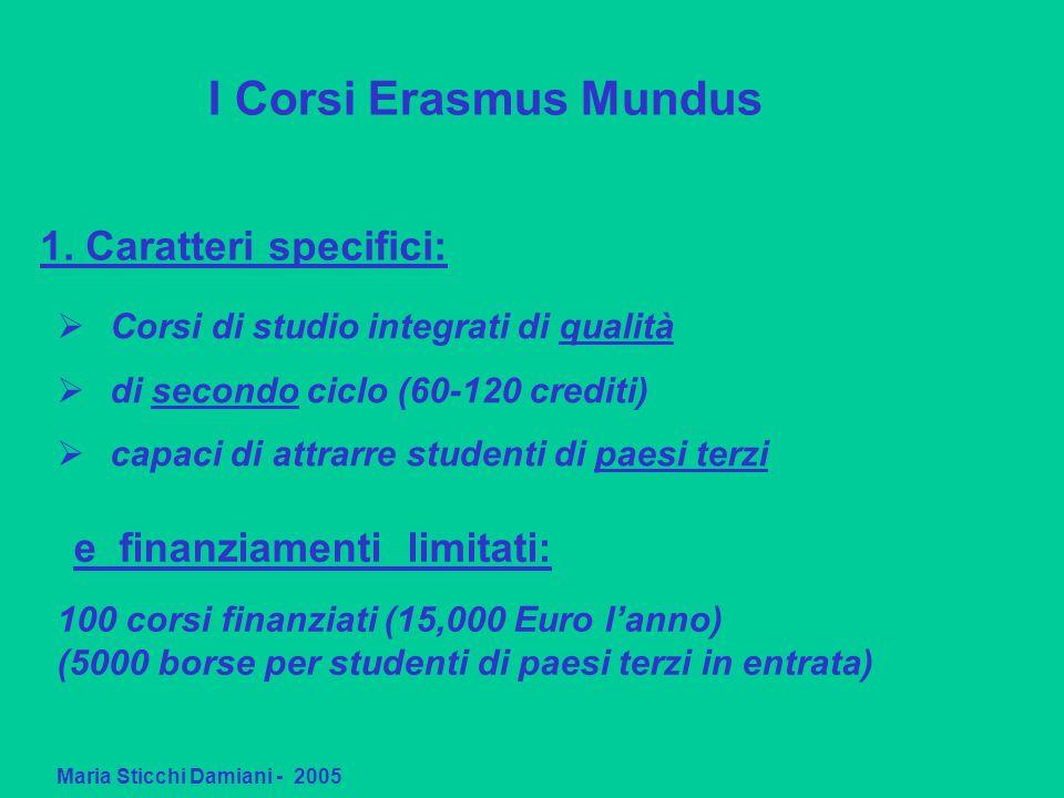 1. Caratteri specifici: Maria Sticchi Damiani - 2005 Corsi di studio integrati di qualità di secondo ciclo (60-120 crediti) capaci di attrarre student