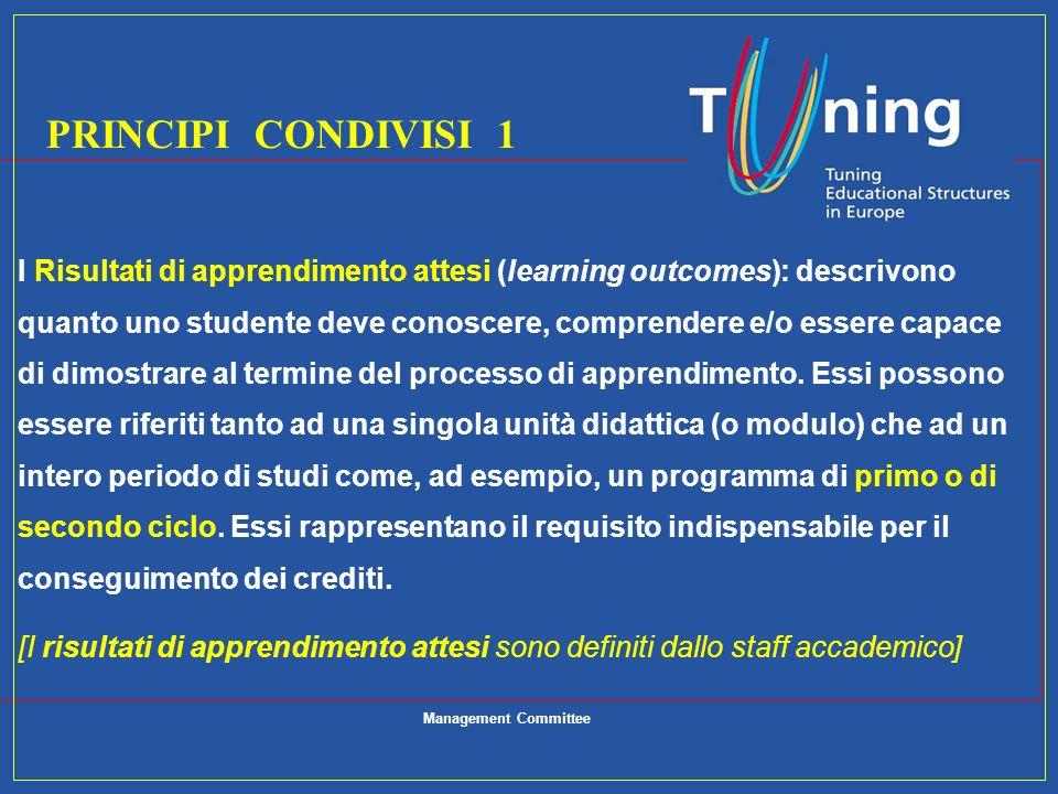 I Risultati di apprendimento attesi (learning outcomes): descrivono quanto uno studente deve conoscere, comprendere e/o essere capace di dimostrare al
