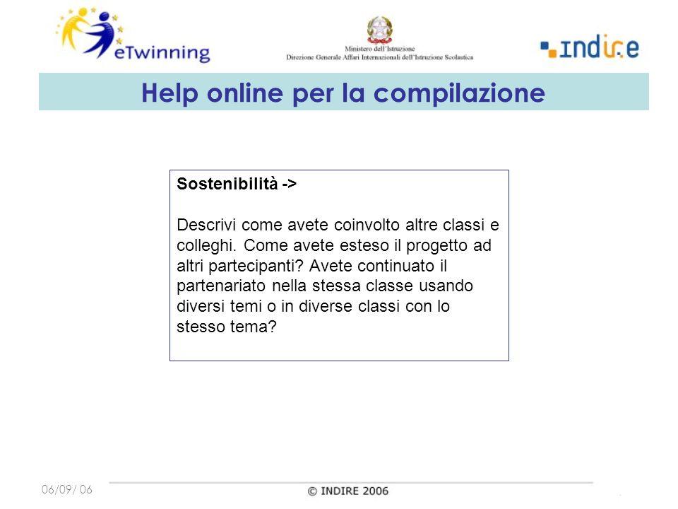 06/09/ 06 Sostenibilità -> Descrivi come avete coinvolto altre classi e colleghi.