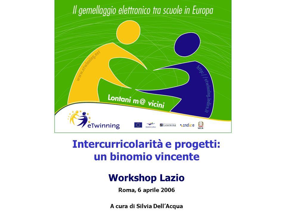Intercurricolarità e progetti: un binomio vincente Workshop Lazio Roma, 6 aprile 2006 A cura di Silvia DellAcqua