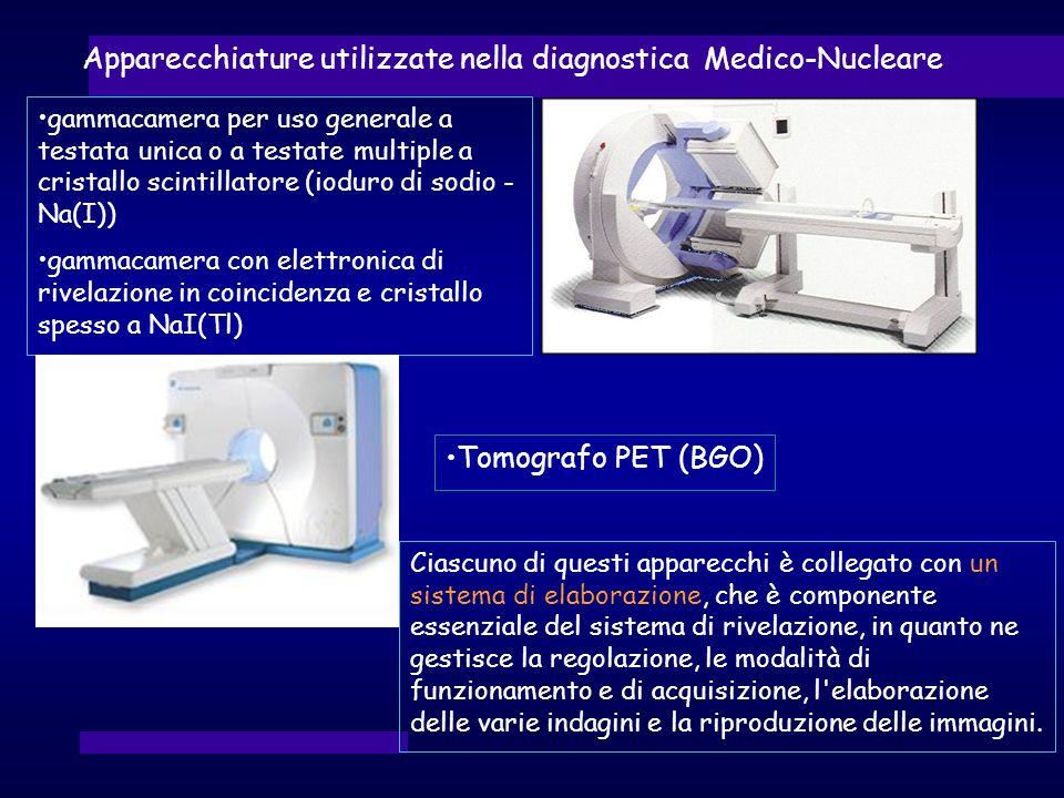 Apparecchiature utilizzate nella diagnostica Medico-Nucleare Ciascuno di questi apparecchi è collegato con un sistema di elaborazione, che è component