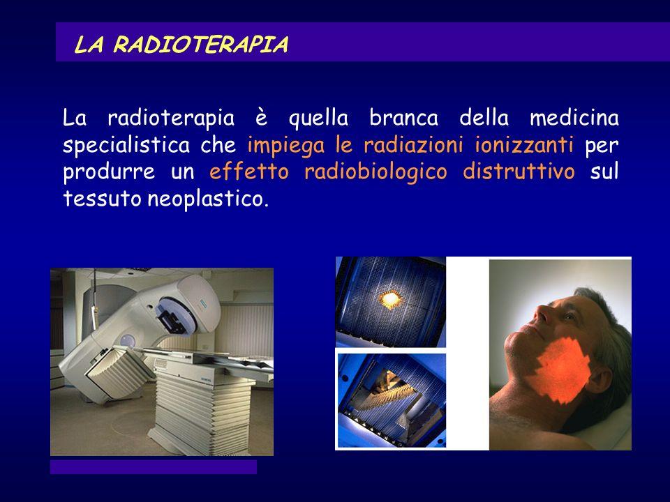 LA RADIOTERAPIA La radioterapia è quella branca della medicina specialistica che impiega le radiazioni ionizzanti per produrre un effetto radiobiologi