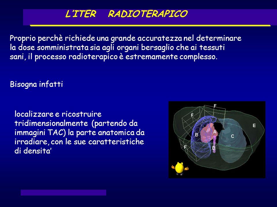 LITER RADIOTERAPICO localizzare e ricostruire tridimensionalmente (partendo da immagini TAC) la parte anatomica da irradiare, con le sue caratteristic