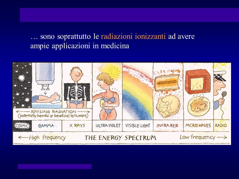 La diagnostica medico-nucleare Al contrario delle immagini radiologiche, che vengono ottenute sfruttando l attenuazione del fascio di radiazioni X da parte dei tessuti interposti tra l apparecchiatura che le ha prodotte e il sistema di rilevazione, le immagini medico-nucleari vengono ottenute per mezzo della rilevazione di radiazioni emesse da radiofarmaci distribuiti nell organismo.