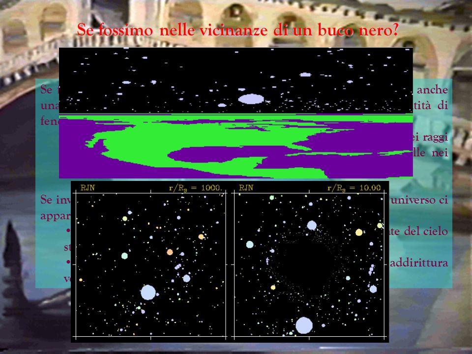 Se fossimo nelle vicinanze di un buco nero? Se fossimo nelle vicinanze di un oggetto compatto, un buco nero ma anche una stella di neutroni, avremmo f