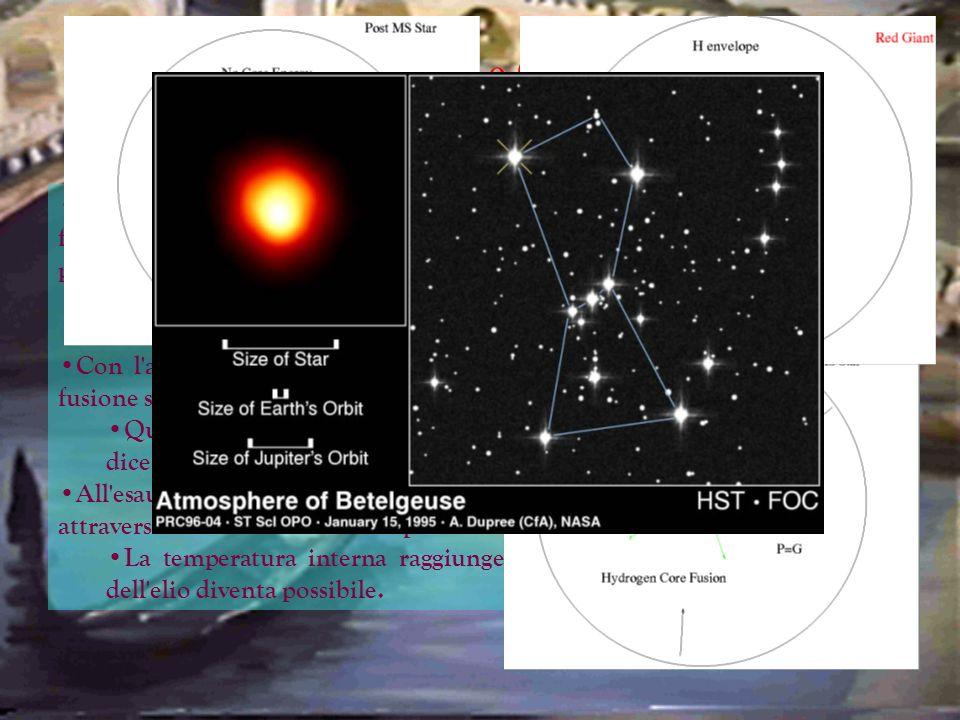 Stelle Nane e Giganti Una volta che le stelle si sono formate e comincia ad instaurarsi una stabile fusione nucleare nelle zone centrali si dice che l