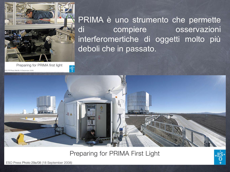 PRIMA è uno strumento che permette di compiere osservazioni interferomertiche di oggetti molto più deboli che in passato.