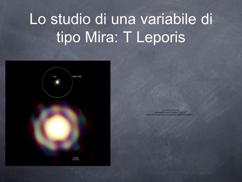Lo studio di una variabile di tipo Mira: T Leporis