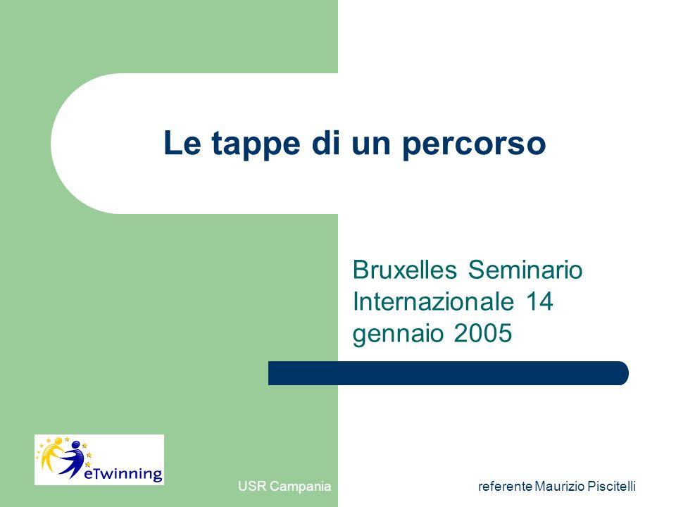 USR Campaniareferente Maurizio Piscitelli Le tappe di un percorso Bruxelles Seminario Internazionale 14 gennaio 2005