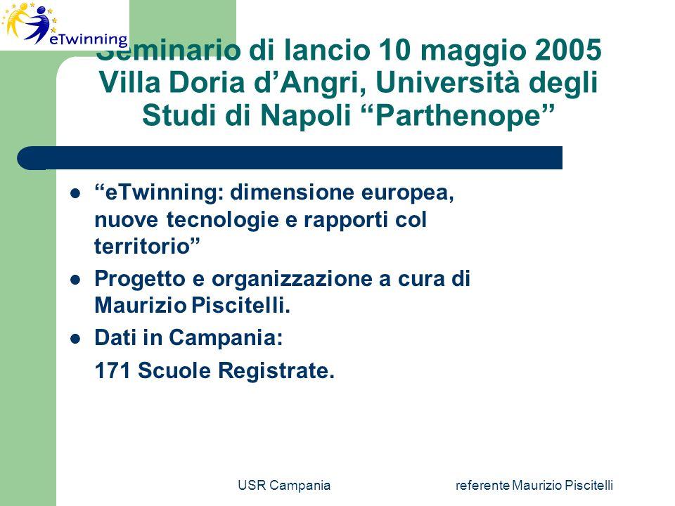 USR Campaniareferente Maurizio Piscitelli Scuole Selezionate 6 e 7 dicembre 2005 IPIA A.