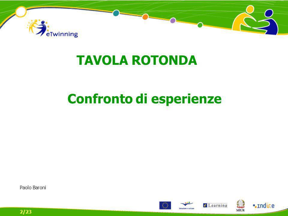 Confronto di esperienze 2/23 TAVOLA ROTONDA Paolo Baroni