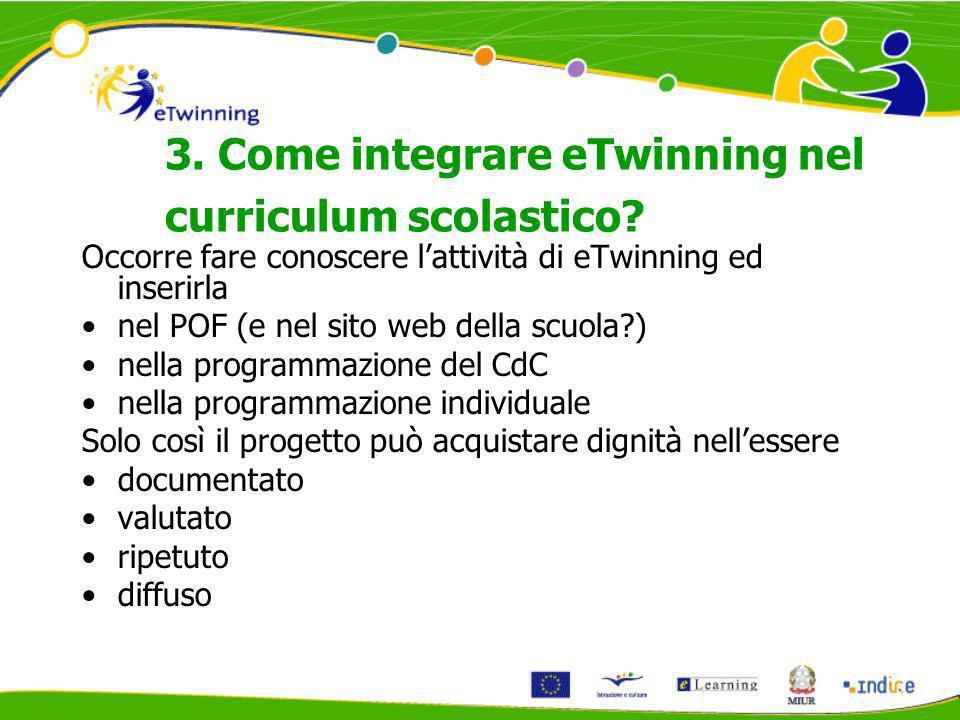 3. Come integrare eTwinning nel curriculum scolastico.