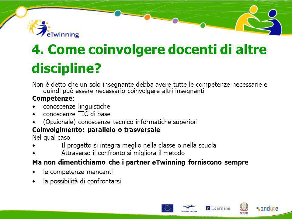 4. Come coinvolgere docenti di altre discipline.