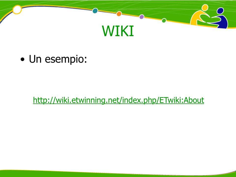 WIKI Un esempio: http://wiki.etwinning.net/index.php/ETwiki:About