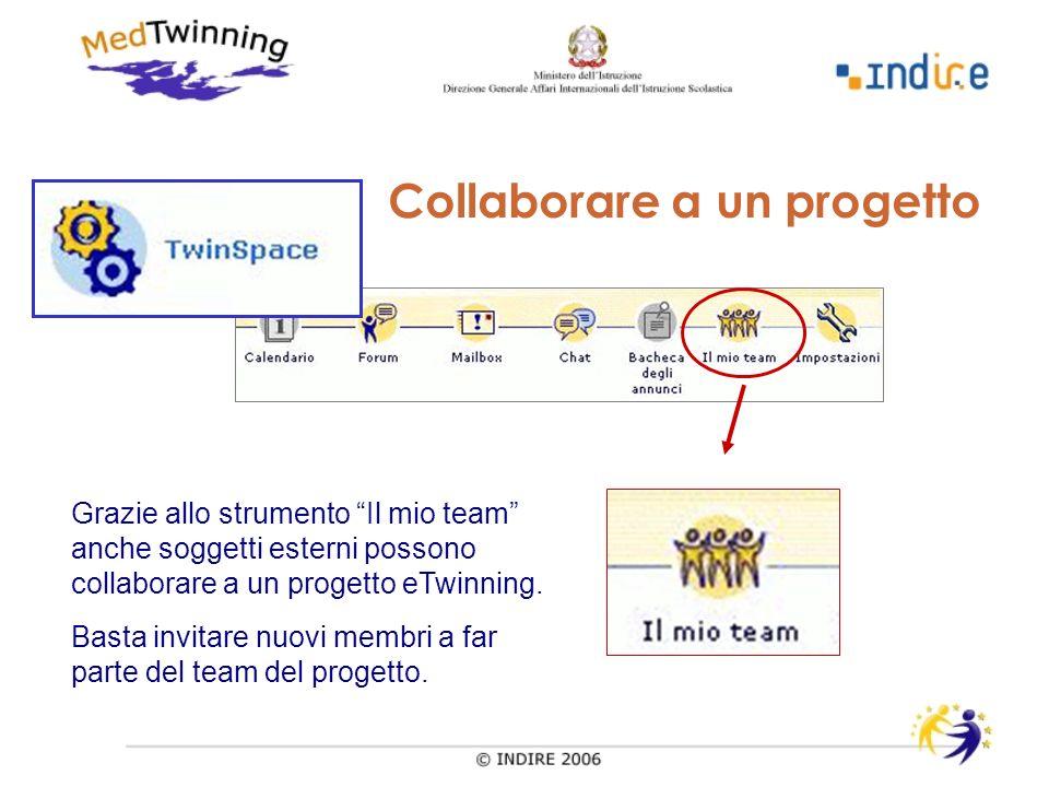 Grazie allo strumento Il mio team anche soggetti esterni possono collaborare a un progetto eTwinning.