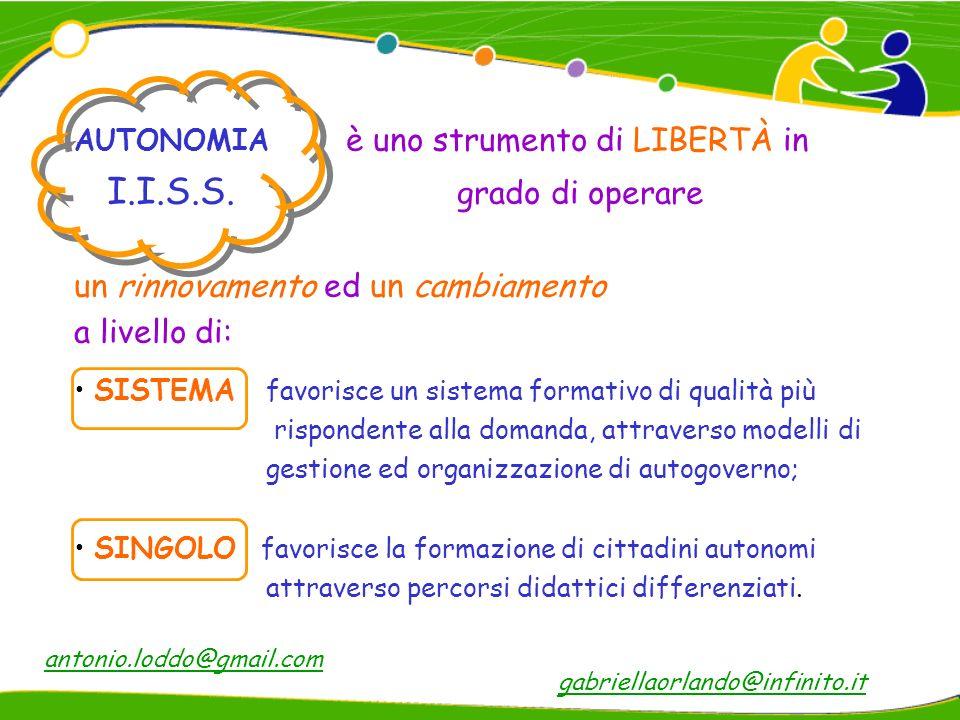 Piccolo è bello se appartieni a qualcosa di più grande Federico Butera gabriellaorlando@infinito.itantonio.loddo@gmail.com