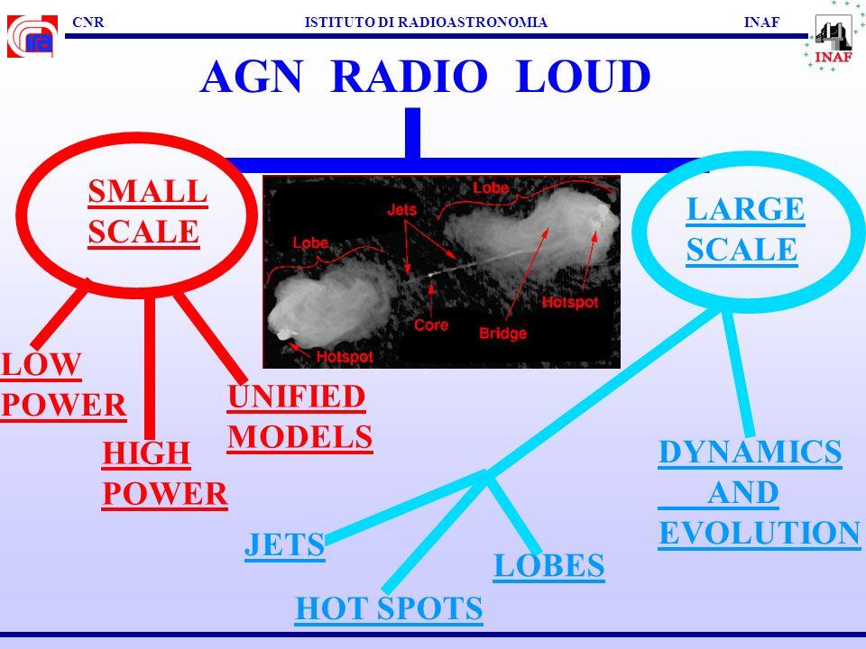 CNR ISTITUTO DI RADIOASTRONOMIA INAF UNIFIED SCHEME Bondi + al. 2001 Fiocchi & Grandi 2004