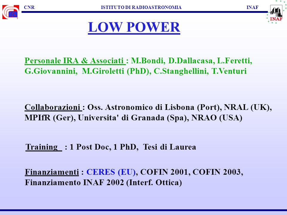 CNR ISTITUTO DI RADIOASTRONOMIA INAF LOW POWER SCOPI SCIENTIFICI : Proprietà broad-band di BL Lac Proprietà morfologiche e di polarizzazione su scale