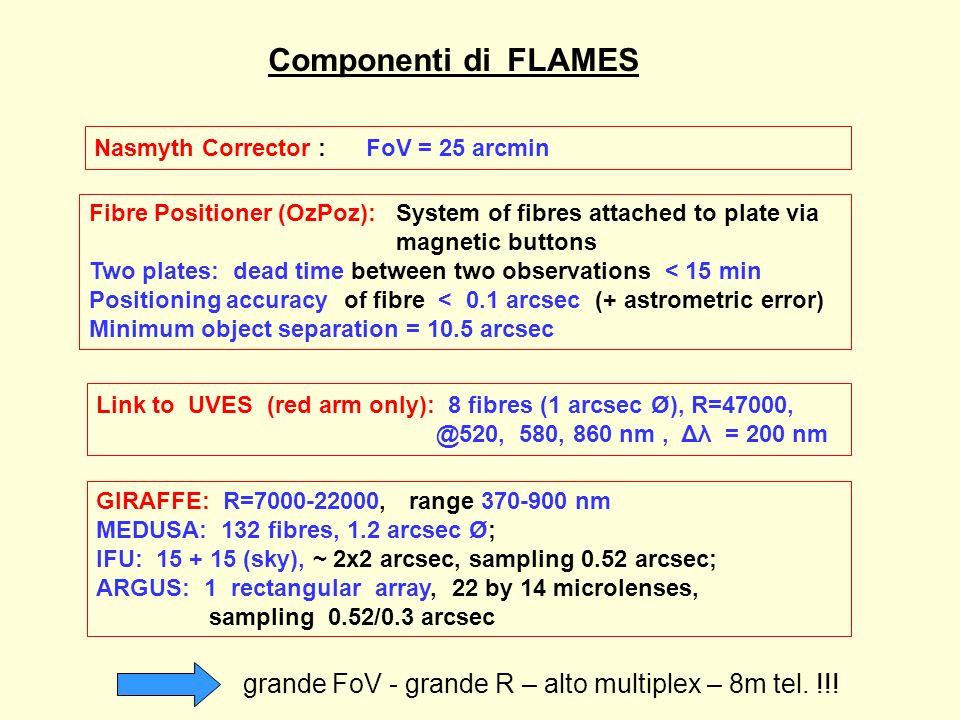 Altri MOS (R > 5000) nel mondo Hydra WIYN(KPNO) BLANCO(CTIO) 3.5m tel.