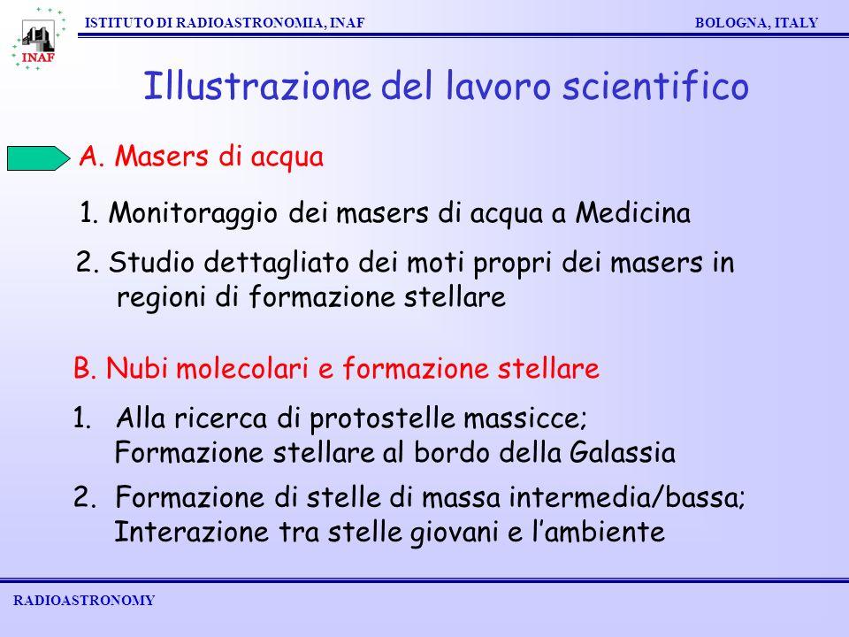 RADIOASTRONOMY ISTITUTO DI RADIOASTRONOMIA, INAF BOLOGNA, ITALY Illustrazione del lavoro scientifico 1.