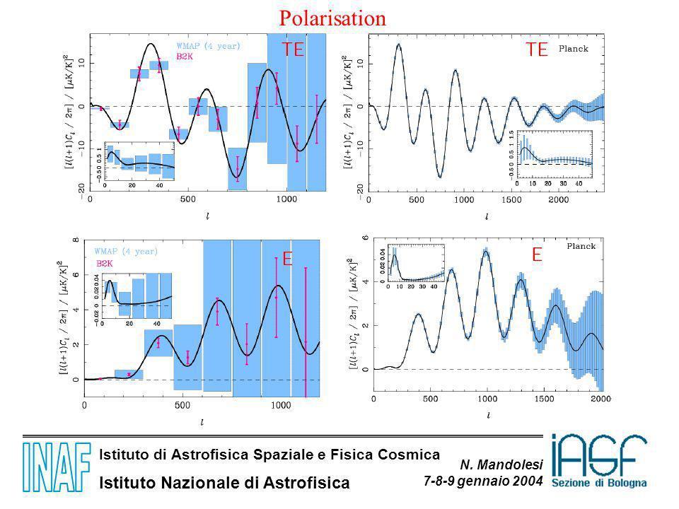 Istituto di Astrofisica Spaziale e Fisica Cosmica Istituto Nazionale di Astrofisica N. Mandolesi 7-8-9 gennaio 2004 Polarisation