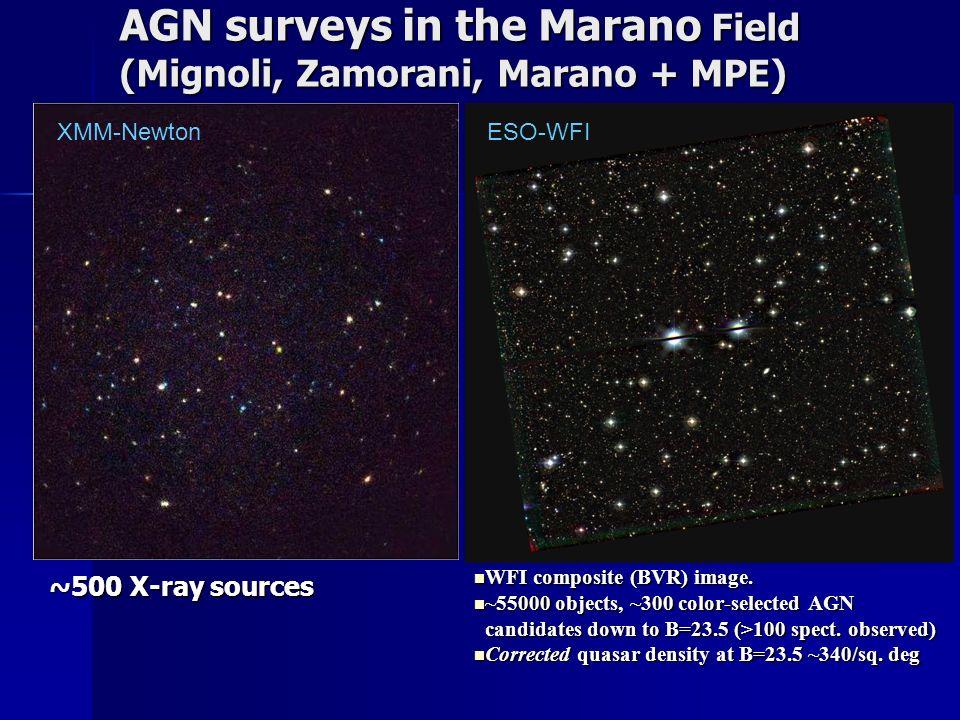 AGN surveys in the Marano Field (Mignoli, Zamorani, Marano + MPE) WFI composite (BVR) image.