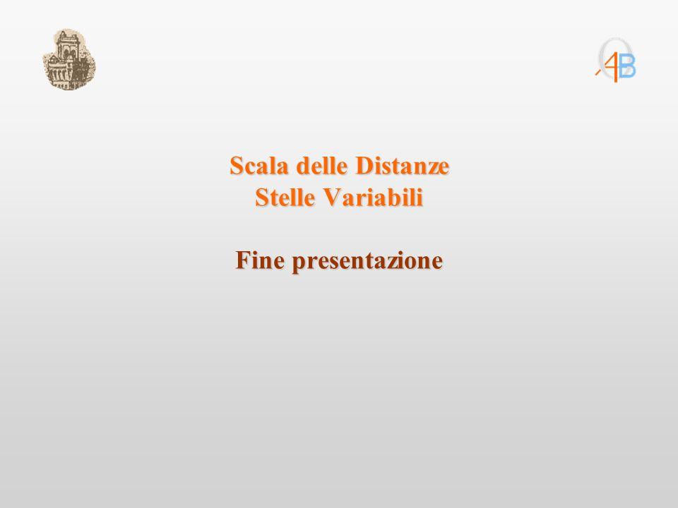 Scala delle Distanze Stelle Variabili Fine presentazione