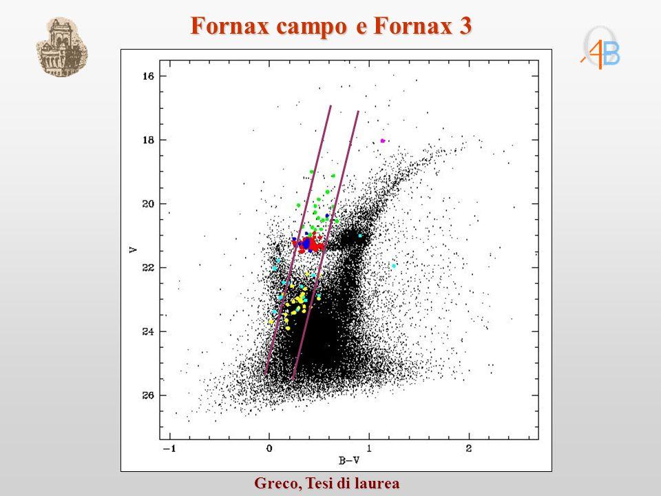 Fornax campo e Fornax 3 Greco, Tesi di laurea