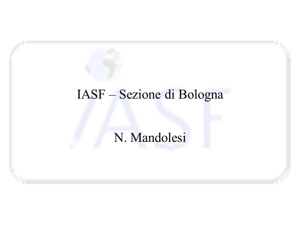 IASF – Sezione di Bologna N. Mandolesi