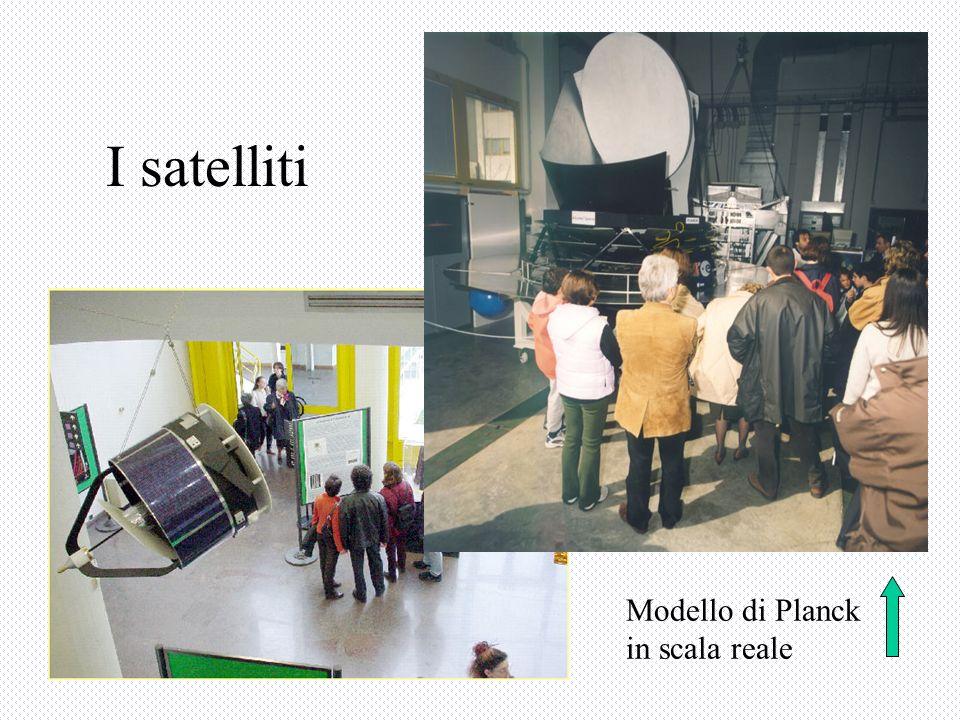 I satelliti Modello di Planck in scala reale