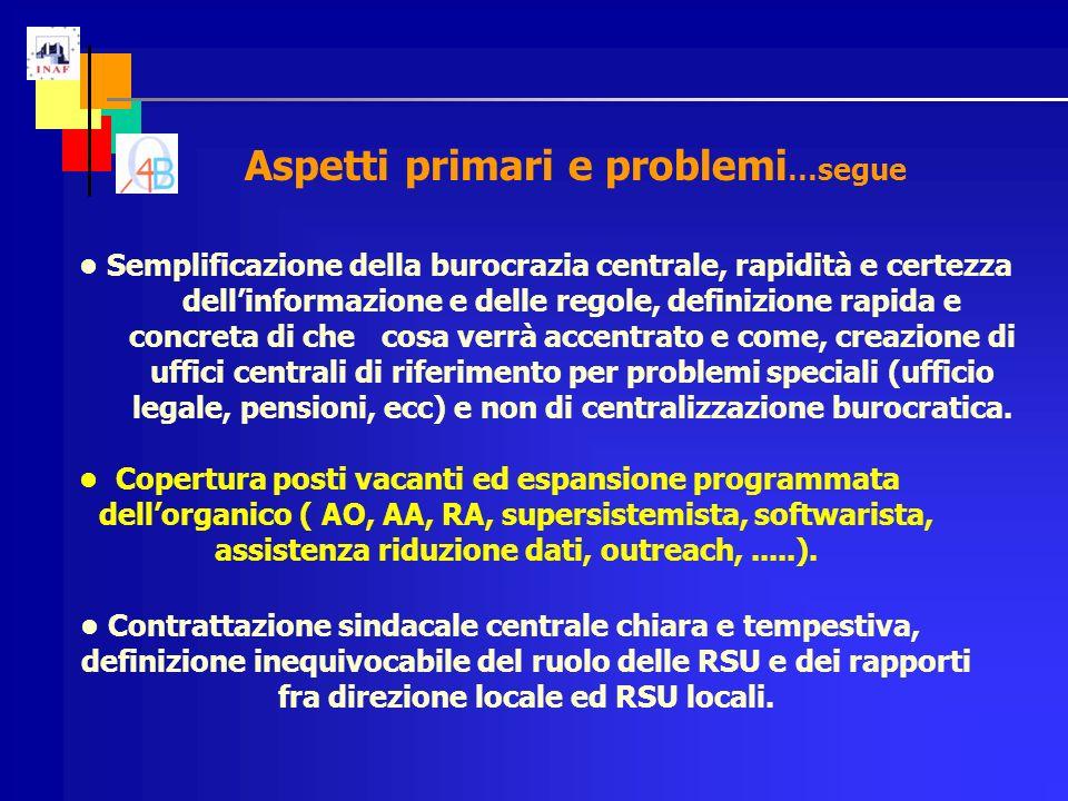 Semplificazione della burocrazia centrale, rapidità e certezza dellinformazione e delle regole, definizione rapida e concreta di che cosa verrà accent