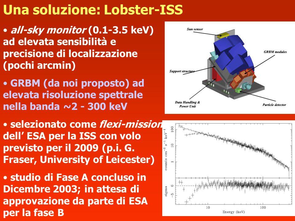 all-sky monitor (0.1-3.5 keV) ad elevata sensibilità e precisione di localizzazione (pochi arcmin) GRBM (da noi proposto) ad elevata risoluzione spett