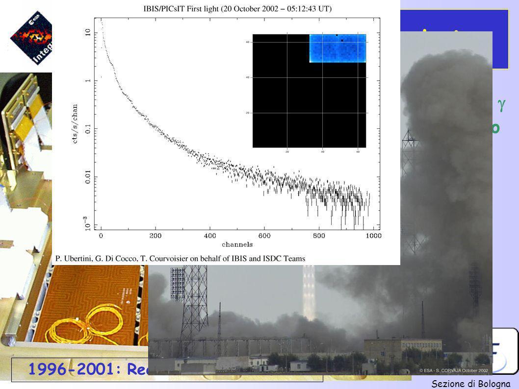 Sezione di Bologna INTEGRAL: Cronologia Priorità scientifica per imaging e spettroscopia X e Satellite per astronomia di bassa energia originato dalla