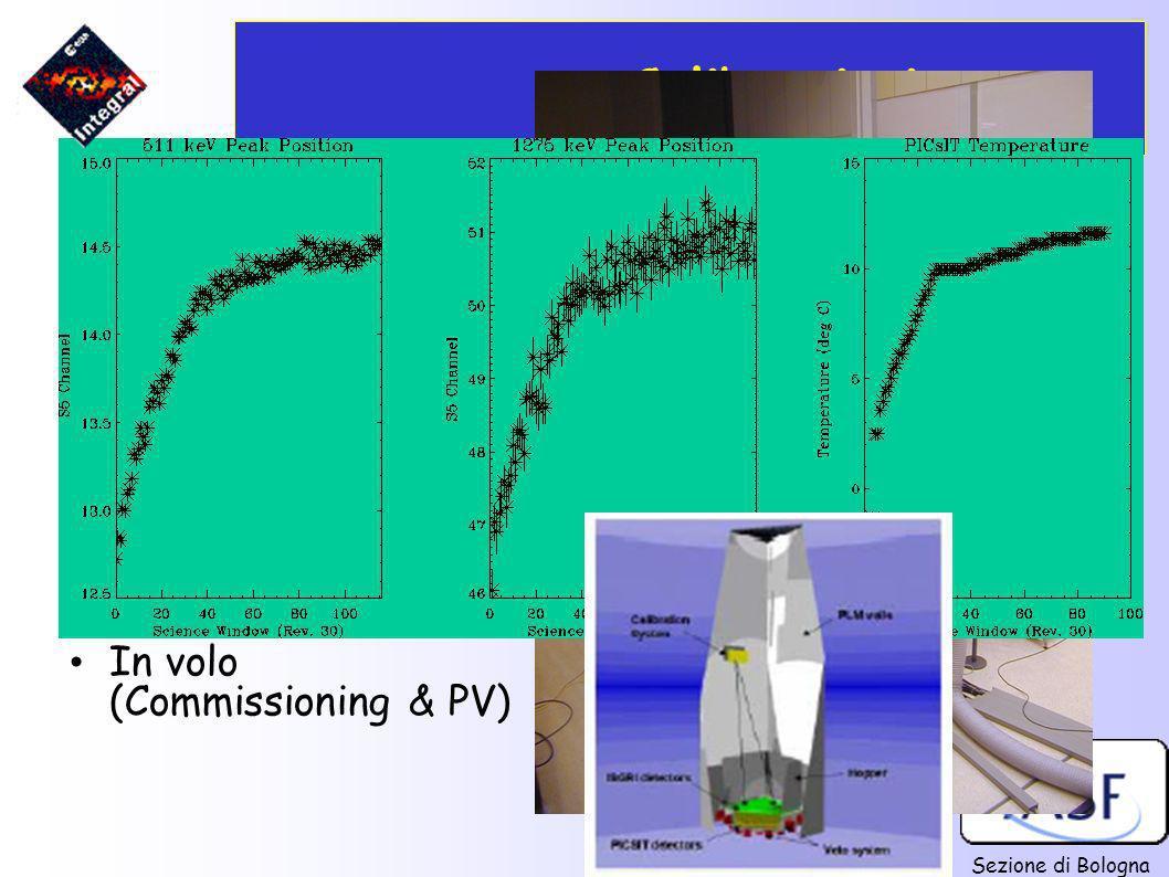Sezione di Bologna Calibrazioni A terra: (c/o LABEN, Alenia, ESA/ESTEC) In volo (Commissioning & PV)